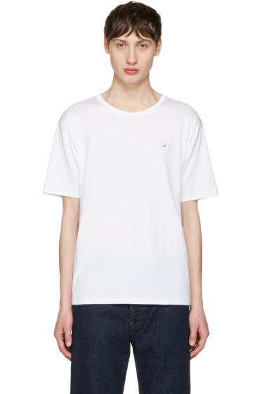 Acne Studios - White Niagara Face T-Shirt