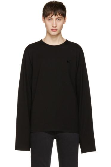Acne Studios - Black Fello Face T-Shirt