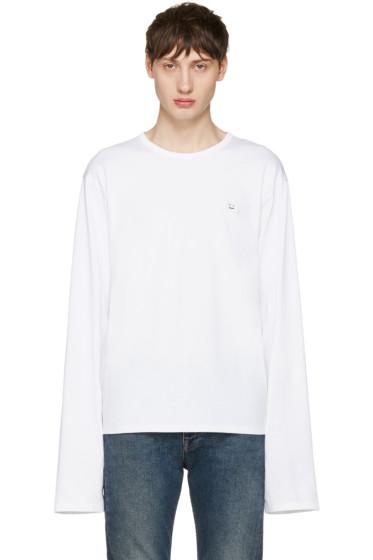Acne Studios - White Fello Face T-Shirt