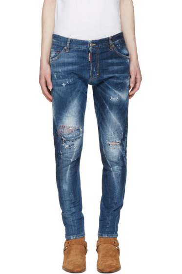 Dsquared2 - Blue Sexy Twist Jeans
