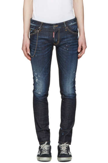 Dsquared2 - Blue Distressed Clement Jeans