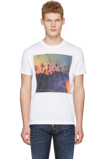 Dsquared2 - White Road Trip T-Shirt