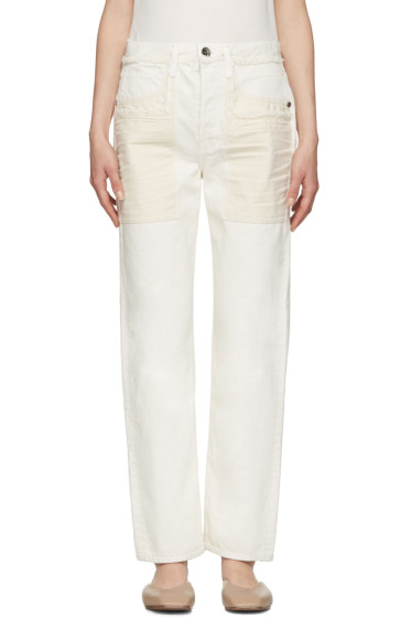 Helmut Lang - Ivory Inside Out Jeans