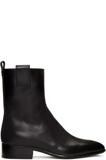 Maison Margiela - Black Leather Ankle Boots