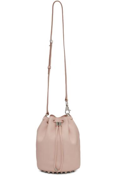 Alexander Wang - Pink Leather Alpha Bucket Bag