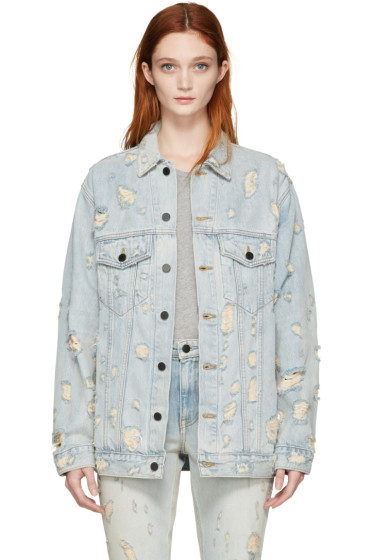 Alexander Wang - Blue Denim Scratch Daze Jacket