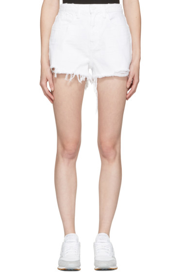 Alexander Wang - White Denim Bite Shorts