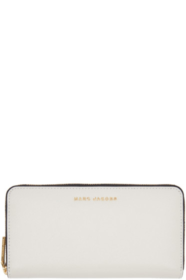 Marc Jacobs - Grey & Navy Standard Continental Wallet