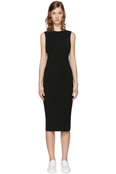 T by Alexander Wang - Black Back Slits Dress