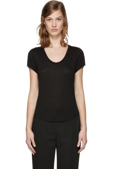 T by Alexander Wang - Black Jersey T-Shirt