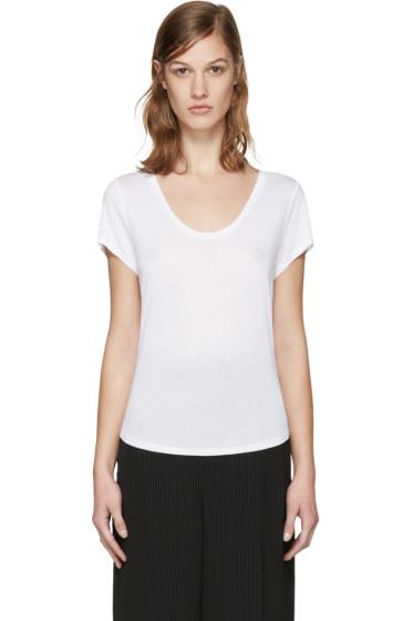 T by Alexander Wang - White Jersey T-Shirt