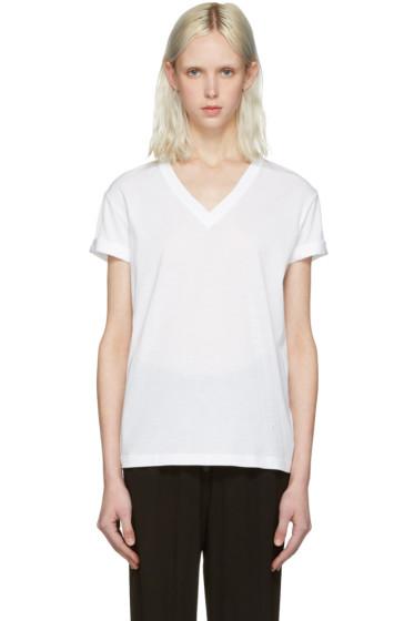 T by Alexander Wang - White V-Neck T-Shirt