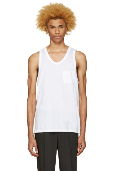 T by Alexander Wang - White Pocket Tank Top