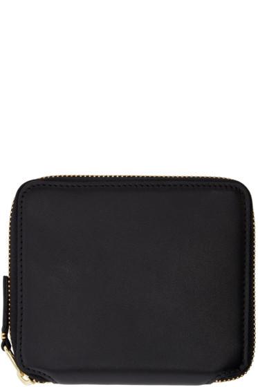 Comme des Garçons Wallets - Black Leather Fold Over Wallet