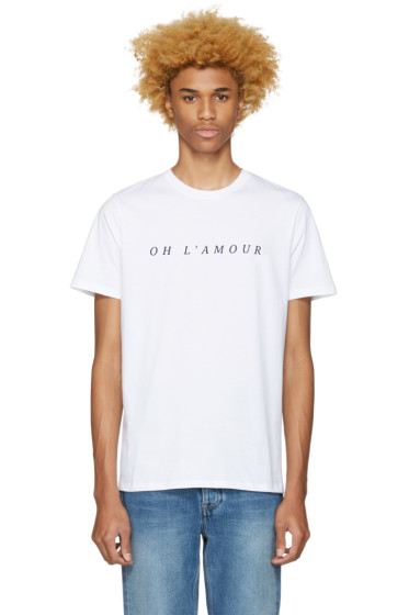 A.P.C. - White 'Oh l'Amour' T-Shirt