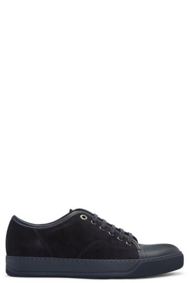 Lanvin - Navy Suede Sneakers