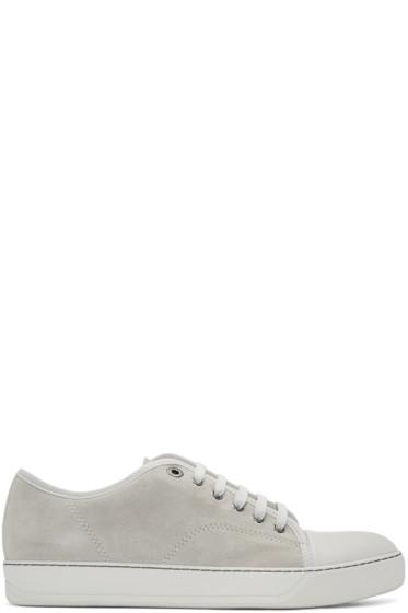 Lanvin - Beige Suede Tennis Sneakers