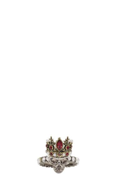 Alexander McQueen - Silver Queen Skull Ring