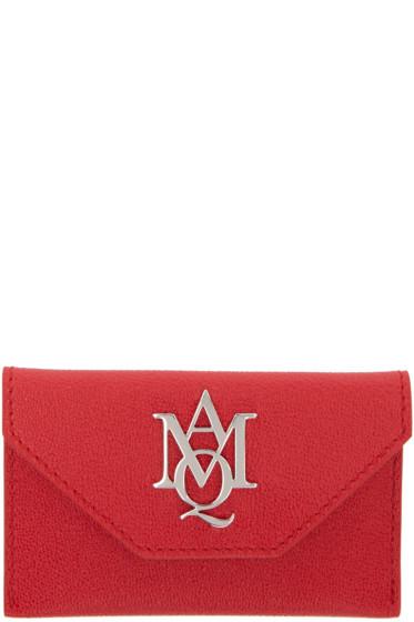 Alexander McQueen - Red Insignia Envelope Card Holder