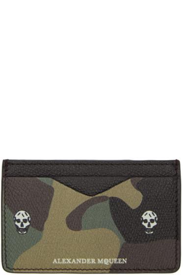 Alexander McQueen - Black Leather Skull Card Holder