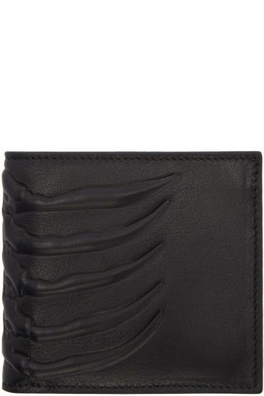 Alexander McQueen - Black Rib Cage Wallet
