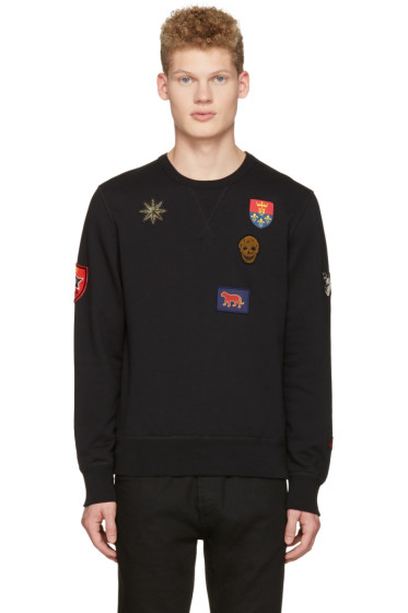 Alexander McQueen - Black Patches Pullover