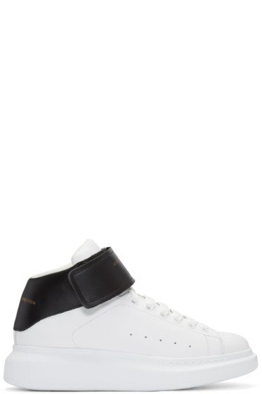 Alexander McQueen - Black & White Oversized High-Top Sneakers
