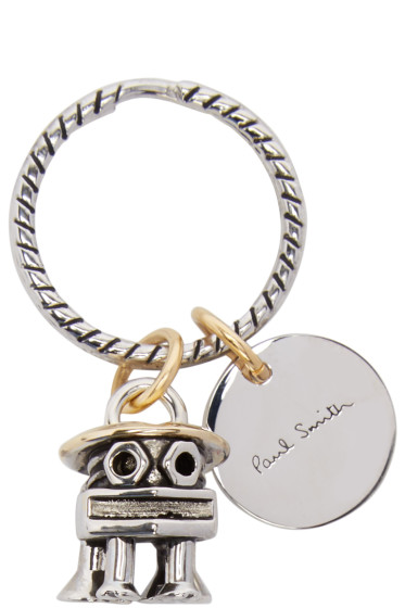 Paul Smith - Silver Bolt Animals Keychain