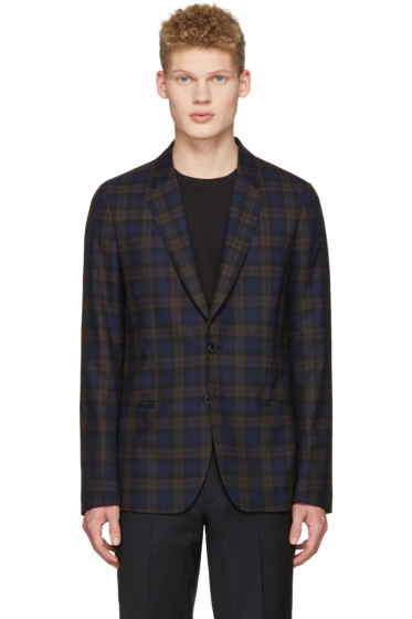 Paul Smith - Brown & Navy Plaid Blazer