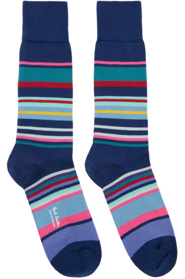 Paul Smith - Navy Spag Stripe Socks