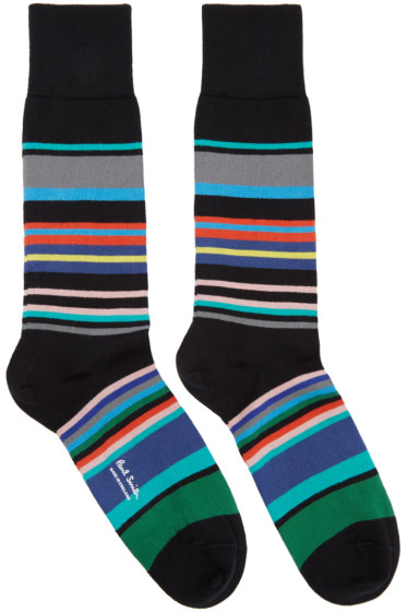 Paul Smith - Black Spag Stripe Socks