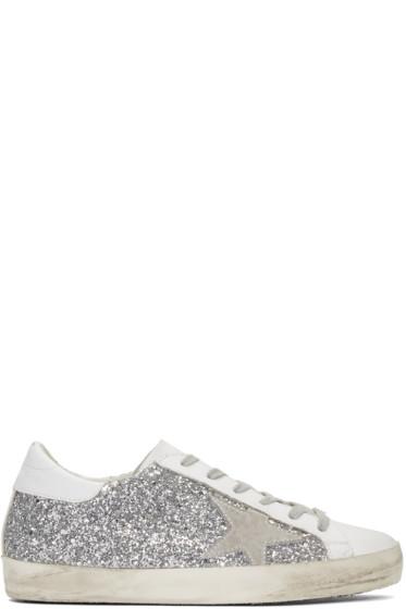 Golden Goose - SSENSE Exclusive Silver Superstar Sneakers