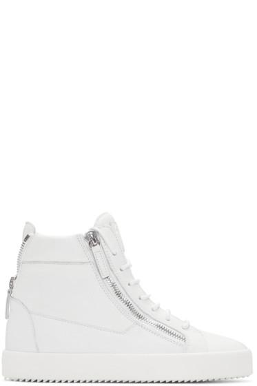 Giuseppe Zanotti - White London High-Top Sneakers