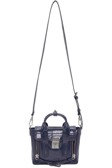 3.1 Phillip Lim - Navy Patent Leather Mini Pashli Satchel