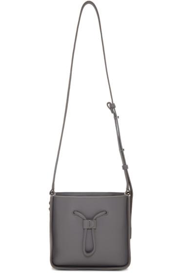 3.1 Phillip Lim - Grey Mini Soleil Bucket Bag