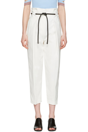 3.1 Phillip Lim - White Tailored Pleated Trousers