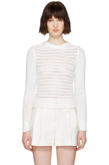 3.1 Phillip Lim - White Crochet Pullover