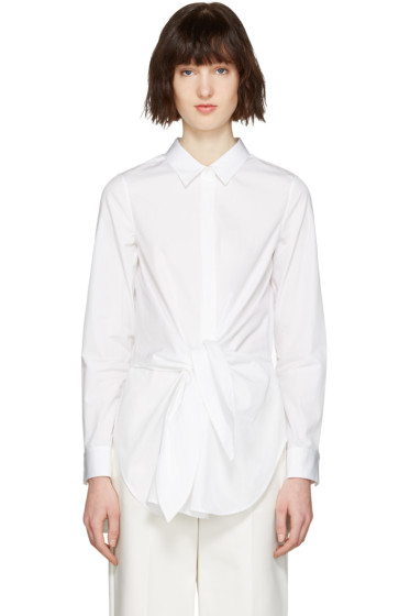 3.1 Phillip Lim - White Front Knot Shirt