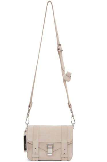 Proenza Schouler - Beige Suede Mini PS1 Crossbody Bag
