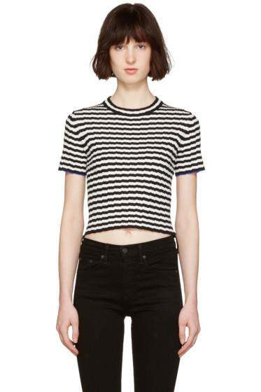Proenza Schouler - Black & White Cropped T-Shirt