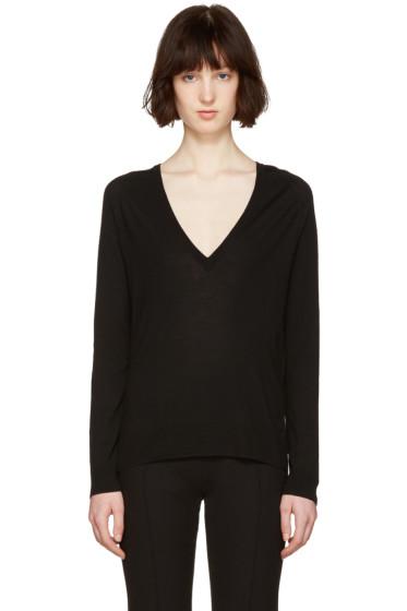 Proenza Schouler - Black V-Neck Sweater