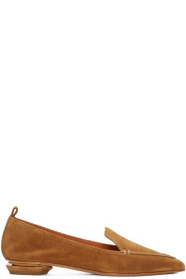 Nicholas Kirkwood - Tan Suede Beya Loafers