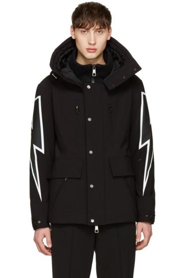 Neil Barrett - Black Thunderbolt Ski Jacket