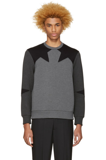 Neil Barrett - Grey Star Pullover