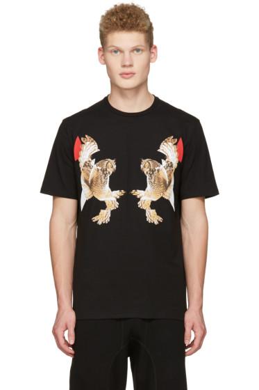 Neil Barrett - Black Two Owl T-Shirt