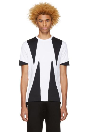Neil Barrett - White Opposite Modernist T-Shirt
