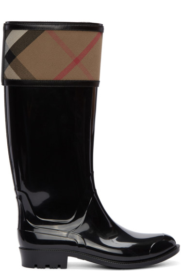 Burberry - Black Tall Croshill Rain Boots