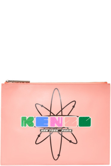 Kenzo - Pink Leather Cory Pouch