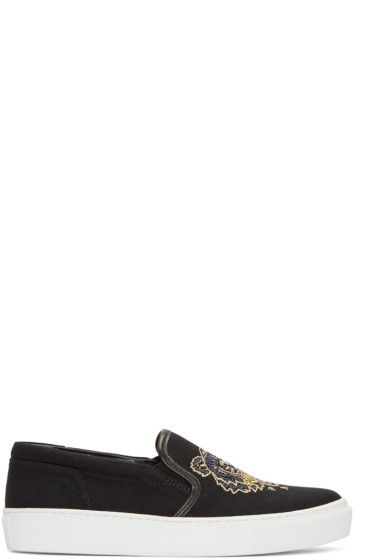 Kenzo - Black Tiger Skate Slip-On Sneakers