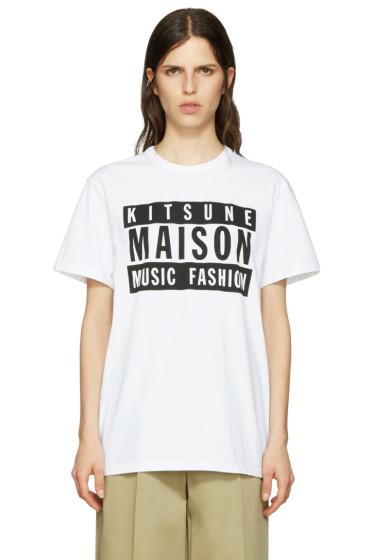 Maison Kitsuné - SSENSE Exclusive White Malso 18 Edition T-Shirt